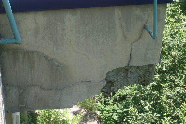 着工前コンクリート破損