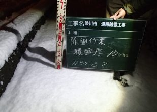 積雪厚 10cm