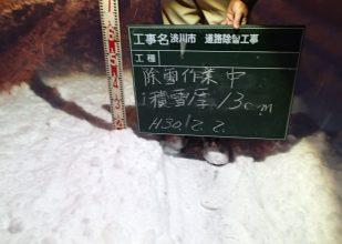 積雪厚 13cm