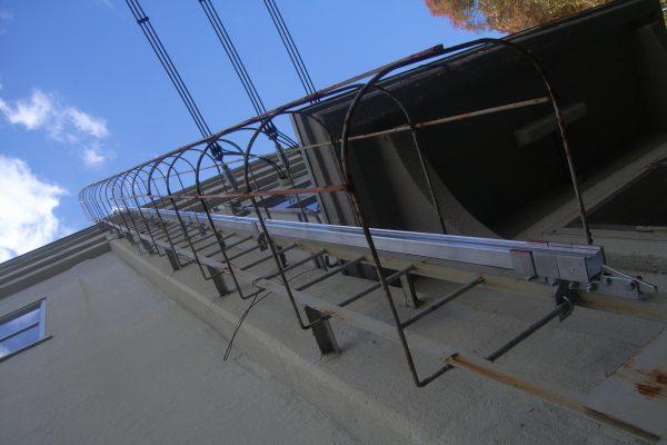 松谷発電所 昇降用タラップ設備完成